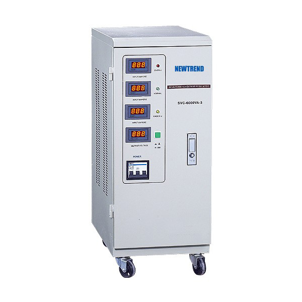 SVC Automatic Voltage Stabilizer (LED, Three Phase)